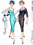 1950s BOMBSHELL Cocktail Sheath Dress and Bolero Jacket Pattern McCALLs 4666 Sweetheart Neckline Evening Dress Button Back Jacket Bust 34 Vintage Sewing Pattern