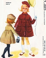 1960s LOVELY Helen Lee Childs Little Girls Coat and Hat Pattern McCALLS 5615 Girls Size 6 Sweet Designer Childrens Vintage Sewing Pattern