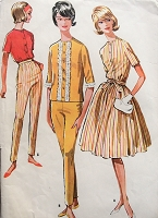 1960s Vintage FUN Blouse in Two Styles, Pants, and Skirt McCall's 6203 Sewing Pattern Bust 36