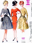 1960s  CLASSY Mad Men Era Six Way Dress Pattern McCALLS 6566 Slim or Full Skirt Day or Cocktail Party Figure Flattering Dress Bust 32 BEGINNERS Vintage Sewing Pattern FACTORY FOLDED