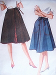 1960s FAB Wrap Around Skirt Pattern McCALLS 6665 Lined Flared Wrap n Tie  Skirt With Pockets Medium Size Waist 26-28 Vintage Sewing Pattern