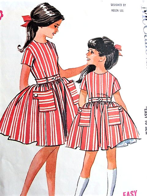 1960s CUTE Girls Dress With Attached Petticoat Pattern McCALLS 6695 ...