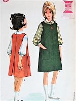1960s Vintage CLASSIC Girl's Jumper and Blouse McCall's 6999 Helen Lee Designer Childrens Sewing Pattern Bust 28