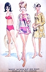 1960s FAB Retro Swimsuit and Beach Coverup Pattern McCALLS 8285 Cute Two Pc Bathing Suit Swimming Suit Cover Up In 2 Lengths Bust 32 Vintage Sewing Pattern