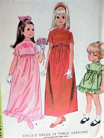 1960s Vintage CHARMING High Waisted Child's Dress in Three Versions McCall's 9384 Sewing Pattern Chest 22