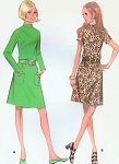 1970s Cute Dress Pattern McCalls 2596 Vintage Sewing Pattern Misses' Petite Dress in Two Style Versions Bust 36 FACTORY FOLDED
