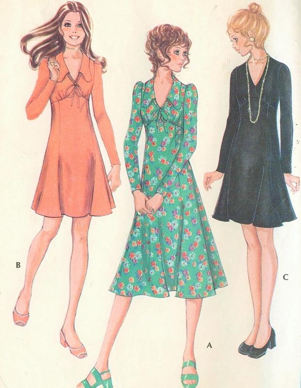 RETRO 70s McCalls 2597 Vintage Sewing Pattern High Waist Flared ...