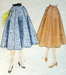 1950s Flared Skirt Pattern McCalls 3278 Waist 24 Vintage Sewing Pattern