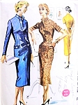 1950s CLASSY Slim Wiggle Dress Pattern Easy To Sew McCalls 3463  Slit Neckline Figure Show Off Style,Bust 32 Vintage Sewing Pattern