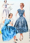 1950s BEAUTIFUL Day or Cocktail Party Dress Pattern McCALLS 3577 Striking Twisted Neckline Fit n Flare Full Skirt Bust 30 Vintage Sewing Pattern