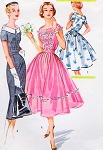 1950s Lovely Rockabilly Dress Pattern McCalls 3988 Flattering Neckline Wiggle Sheath or Full Skirt Day or Party Bust 38or 32 Vintage Sewing Pattern