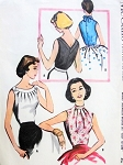 1950s  LOVELY Sleeveless Blouse Pattern Easy To Sew McCALLS 4026 Two Daytime or Evening Styles Bust 32 Vintage Sewing Pattern