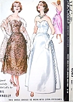 1950s RARE Sybil Connolly Evening Gown Pattern McCALLS 4083 Strapless Party Dress Formal Gown In Two Lengths and Stole Bust 34 Vintage Sewing Pattern