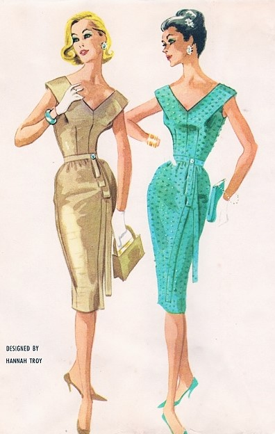 1960 Evening Cocktail Party Dress Pattern Hannah Troy