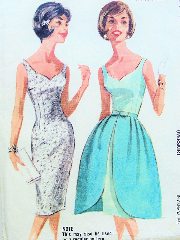 1960s Mad Men Style Cocktail Party Dress Pattern Mccalls