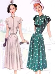 1940s FLATTERING Dress Pattern McCALL 7204 Beautiful Shaped Slit Neckline, Flare Skirt Day or After 5 Dress Bust 32 Vintage Sewing Pattern