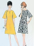 1960s MOD Dress Pattern McCALLS 8184 A Line Slit Neckline and Bell Sleeves Bust 32 Easy To Sew Vintage Sewing Pattern
