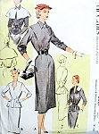 1950s Stunning Accessory Dress Pattern McCalls 8587 Three Beautiful Versions and Short Cape Vintage Sewing Pattern Bust 30