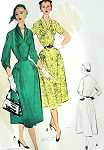 1950s Lovely Dress Pattern McCalls 8812 Eye Catching Draped Bodice Shawl Collar Lovely Sleeve Details Daytime or After 5 Dress Bust 34 Vintage Sewing Pattern