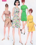 Mod 60s Slim Basic or A Line Skirt Dress Pattern So Many Different Looks McCalls 9083 Vintage Sewing Pattern Bust 38 UNCUT FACTORY FOLDED