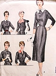1950s Slim Dress and Accessories Pattern Mccalls 9914 Five Different Looks Bust 34 Vintage Sewing Pattern