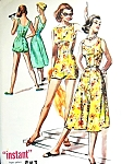1950s Playsuit and Skirt Beachwear Pattern McCalls 3919 Cute Rompers Swimsuit and Flared Skirt Bust 34 FACTORY FOLDED