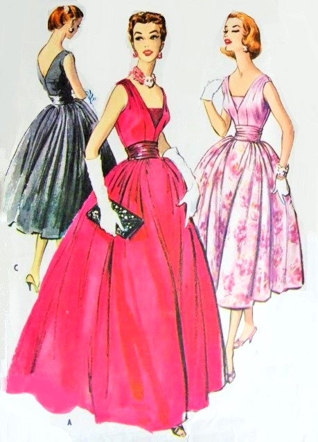 1950s Stunning Evening Gown Or Cocktail Party Dress And