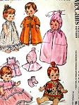 1960s Doll Clothes Pattern McCalls 6993 Vintage Sewing Pattern Baby and Toddler Doll Sizes 12 to 15 Inches Dolls Wardrobe and Tote Fits Baby Pebbles, Pebbles, My Baby, Baby Cupcake, Babykin, Tiny Tubber, Baby Buttercup, Littlest Angel, Lil Susan, Teensie