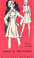 1960s MOD Coat Dress Pattern PROMINENT Designer 258 Double Breasted Flared Dress Bust 34 Vintage Sewing Pattern