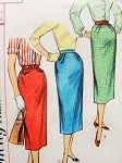 1950s One Yard Slim Skirts Pattern SIMPLICITY 2191 Three Styles Classic 50s Wiggle Skirt  Vintage Sewing Pattern