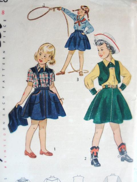 1940s Vintage Cowgirl Country Western Shirt Skirt Bolero