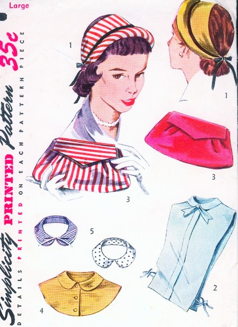 1940s Accessories Pattern Hats Dickeys Collar Hand Bag