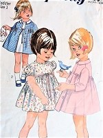 1960s Vintage DARLING Toddler's Dress and Coat Simplicity 6426 Sewing Pattern Chest 20