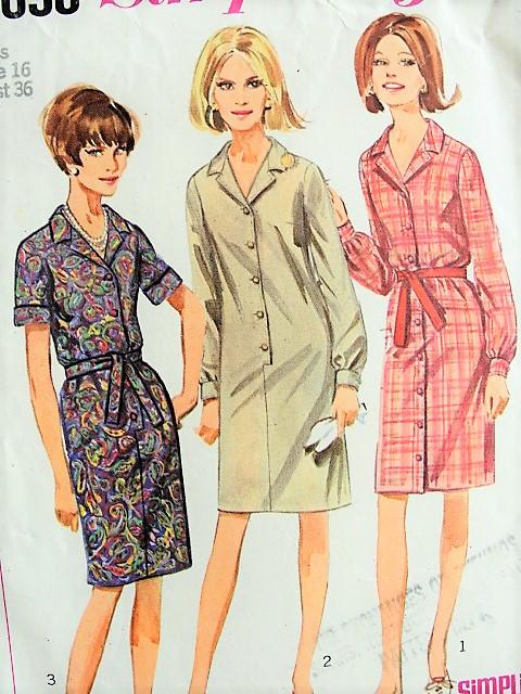 40s CLASSIC Vintage Shirt Dress Simplicity Pattern 40 Bust 40 Best Simplicity Patterns Vintage