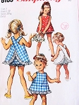 1960s ADORABLE Little Girls Toddlers Top and Bloomers Pattern Simplicity 8165 Sweet Criss Cross Back Easy To Sew Size 4 Vintage Sewing Pattern