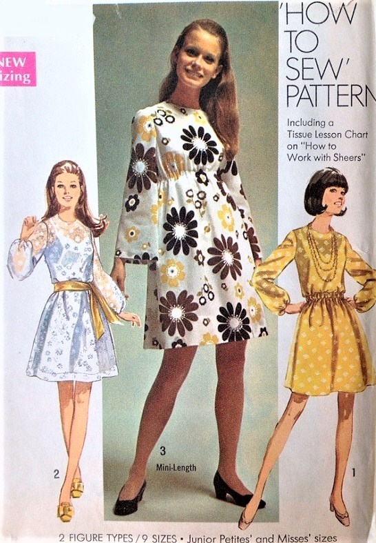 1960s MOD Dress Pattern How To Sew SIMPLICITY 8611 Perfect For ...