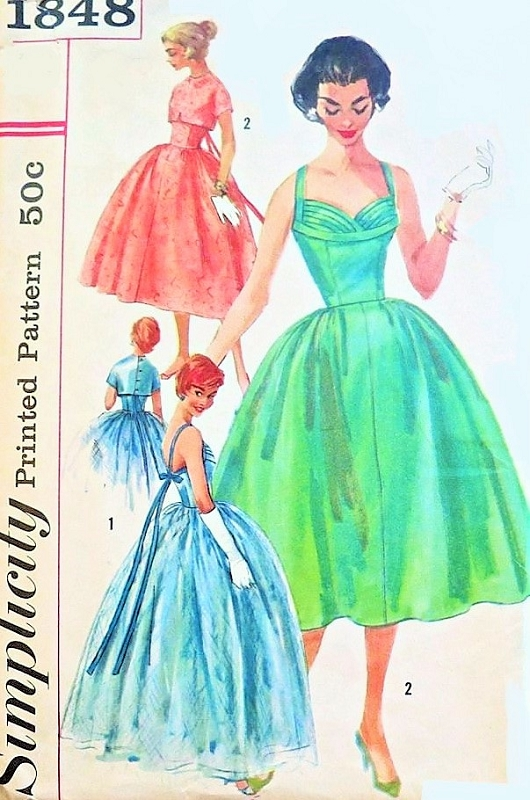 1950s Stunning Evening Gown Or Cocktail Dress And Jacket