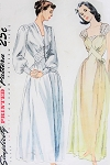 1940s GORGEOUS Negligee and Nightgown Pattern SIMPLICITY 2235 Stunning Design Details Wedding Trousseau Pin Up Style Bust 32 Vintage Sewing Pattern