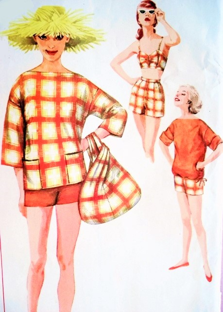 1950s CLASSY Beachwear Pattern SIMPLICITY 2530 Two Pc Bathing Suit ...