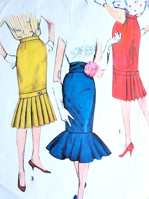 1950s Fab Skirt Pattern Simplicity 2813 Vintage Sewing