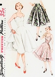 1950s PRETTY Slip and Petticoat Pattern SIMPLICITY 3766 Three Styles Full or Half Slips Full Skirt or Ruffled Bottom Rockabilly Style Bust 32 Vintage Sewing Pattern