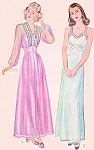 1940s ROMANTIC Nightgown and Negligee Robe Pattern SIMPLICITY 4995 Wedding Trousseau Boudoir Lingerie Styles Bust 30 Vintage Sewing Pattern