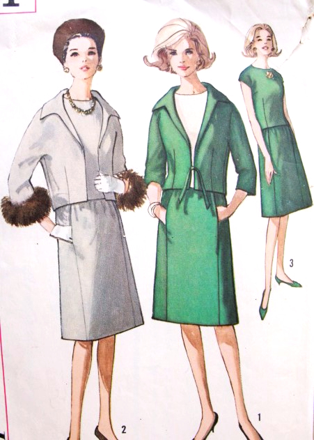 1960s Mad Men Era Suit and OverBlouse Pattern Simplicity 5151 Button ...