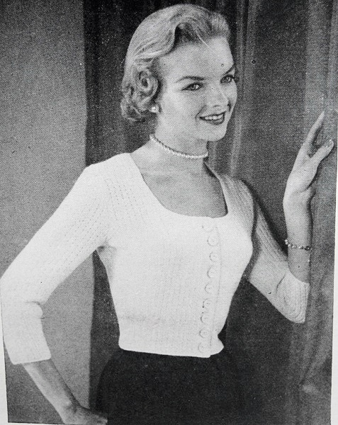 Instant Pdf Pattern 1950s Vintage Knitting Pattern Marilyn Monroe