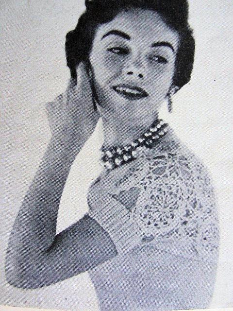 Instant Pdf Pattern 1950s Hamaca Shrug Sweater Strapless Bodice
