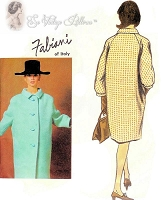 1960s FABULOUS Fabiani Designer Coat Pattern VOGUE Couturier Design 1368 Oversized  Style Coat Bust 32 Vintage Sewing Pattern