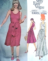 70s WRAP Dress Pattern VOGUE 1410 Carol Horn Bust 34 Vintage Sewing Pattern Very Easy Wrap n Tie Dress Day  or Maxi Evening Wrapped Dress UNCUT