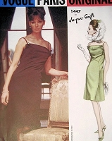 1960s SEDUCTIVE  Cocktail Party Dress Pattern VOGUE PARIS Original 1447 Jacques Griffe Camisole Bodice Evening Dress Bust 34 Vintage Sewing Pattern
