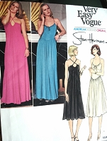 1970s SLINKY Disco Era Evening Dress Pattern AMERICAN DESIGNER ORIGINAL 1530 Regular or Maxi Stan Herman Criss Cross or Spaghetti Straps 2 Styles Bust 32 Vintage Sewing Pattern UNCUT