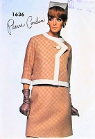 60s PIERRE CARDIN 3 Pc Suit Pattern VOGUE PARIS ORIGINAL 1636 Striking Style CUT OUT Shoulders Blouse Bust 34 Vintage Sewing Pattern